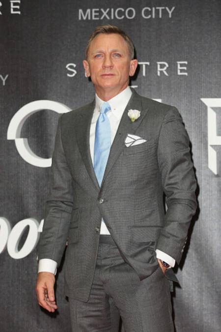 Daniel Craig aterriza en México llevando el estilo Bond al máximo en la premiere de 'Spectre'