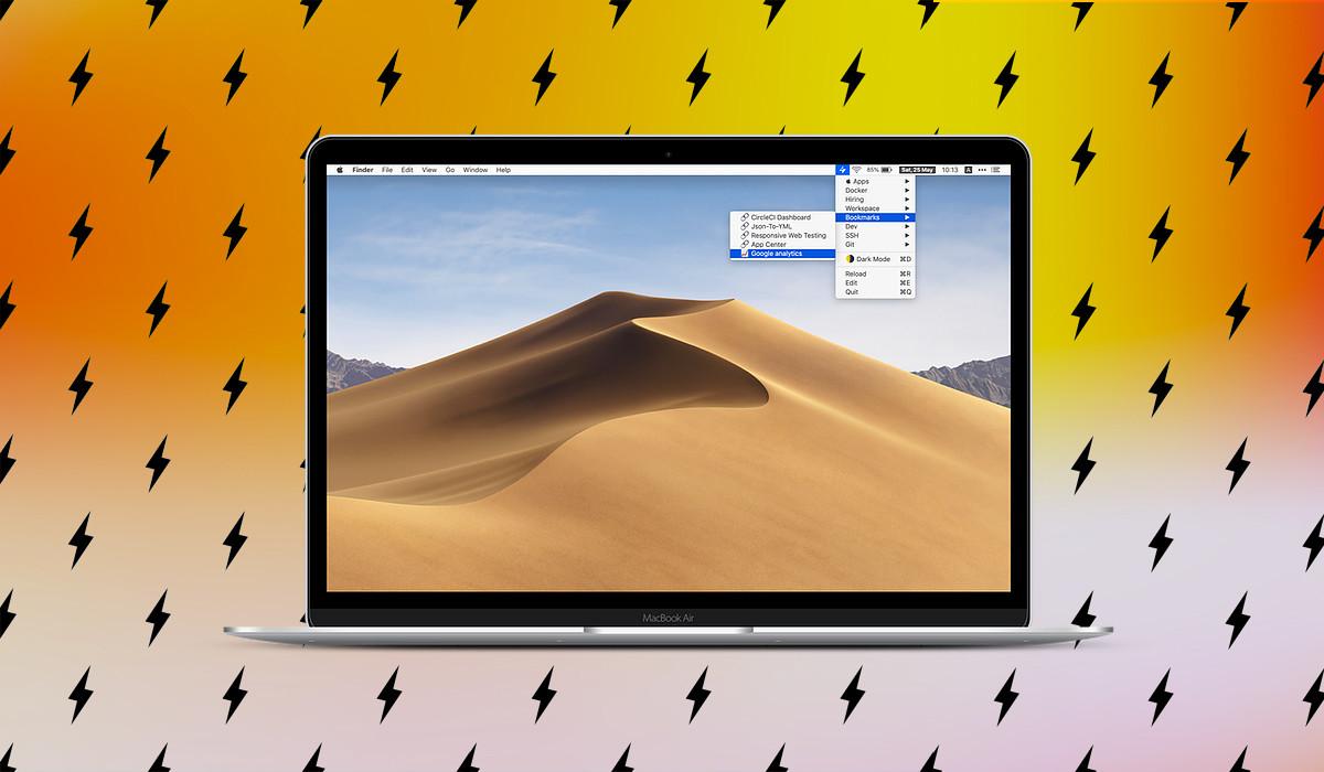 Superbar es una aplicación gratuita para macOS con la que acceder rápidamente a enlaces, apps o snippets...