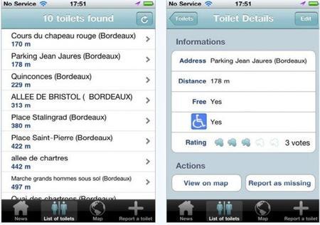 Toilet Finder, aplicación para encontrar el baño más cercano