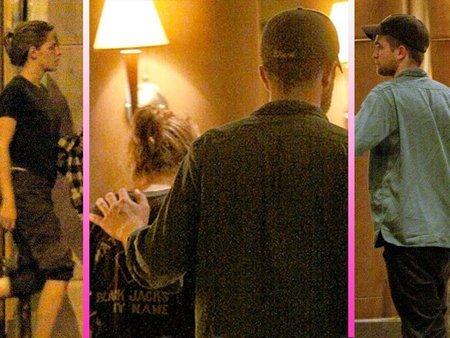 Robert Pattinson y Kristen Stewart pillados entre besos furtivos