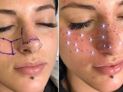 Llegan las astro-pecas: nos podemos tatuar en la cara nuestro signo del zodiaco (o el que queramos)