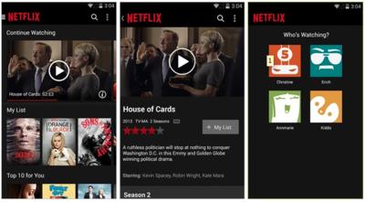 Netflix para Android se actualiza con mejoras en su interfaz y nuevo logo