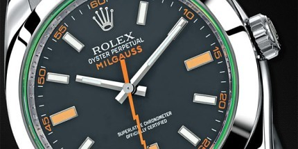 Reloj Rolex Oyster Perpetual Milgauss con esfera negra