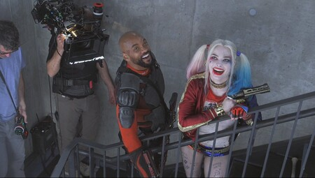Suicide Squad Bts Still Featuring Harley Quinn And Deadshot