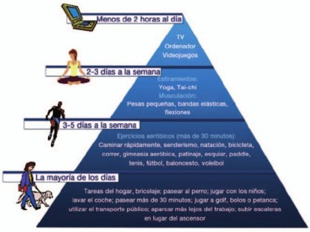 Pirámide de actividad física para adultos