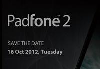 ASUS Padfone 2 llegará el 16 de octubre