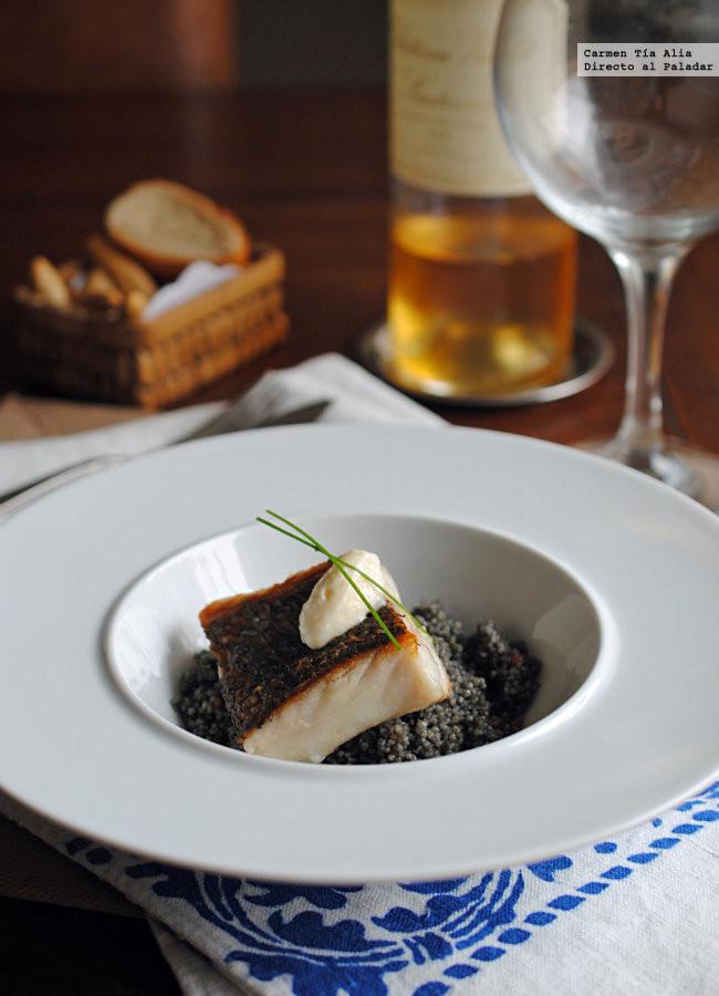 Cuscús negro con corvina a la plancha, una receta sana y deliciosa para lucirse sin complicaciones