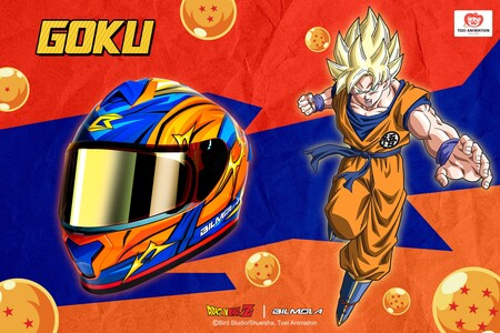Este casco para moto personalizado de Dragon Ball Z es la última ocurrencia de Bilmola y tiene bluetooth incorporado
