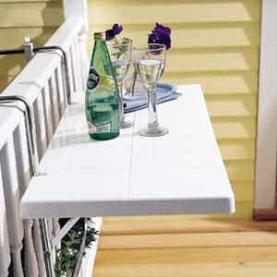Mesa auxiliar para tu balcón