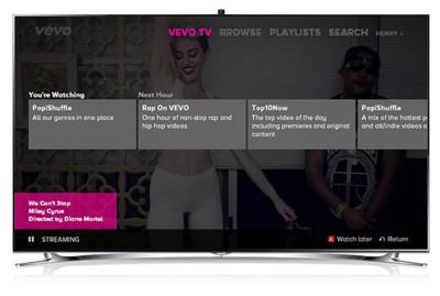 Vevo se mete en los televisores Smart TV de Samsung