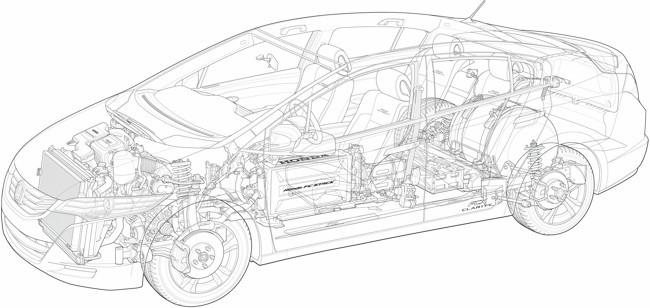 Honda FCX Clarity dibujo técnico