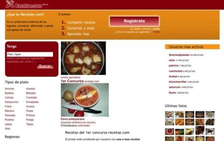 Recetae, directorio de recetas