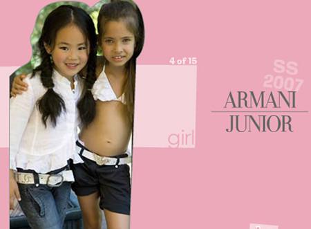 El Defensor del Menor pedirá que se retire un anuncio de Armani Junior