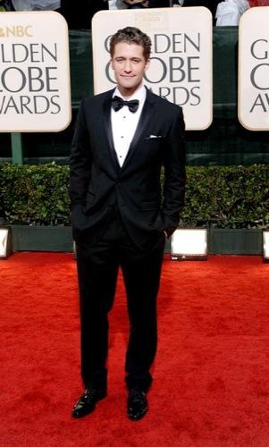 Los famosos mejor vestidos en los Globos de Oro. Matthew Morrison