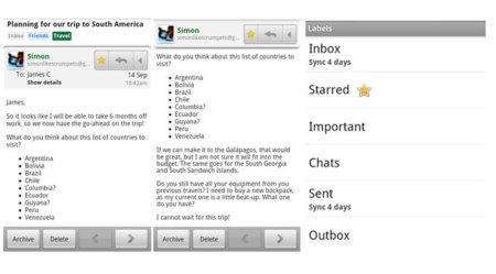 """Nueva versión de GMail para Android: """"Priority Inbox"""" ahora también en tu móvil"""