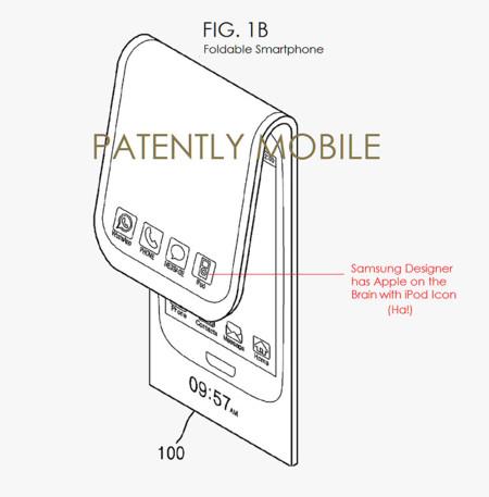 Patente de Samsung de pantallas flexibles