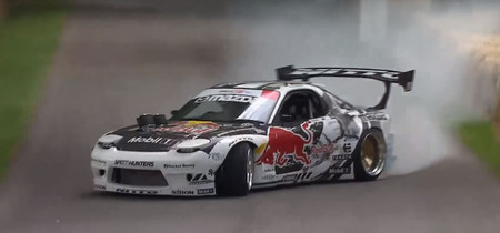 Goodwood Hill Climb, Mad Mike y su Mazda RX-7 preparado para drifting... es para verlo
