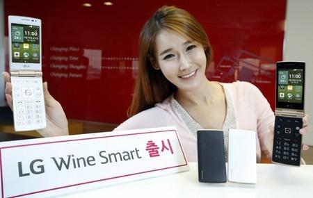 Wine Smart, el teléfono inteligente clamshell de LG