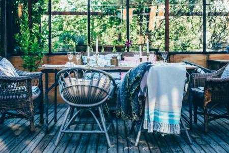 Mesas silla jardín