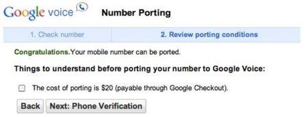 Google Voice ya permite hacer portabilidades de números móviles