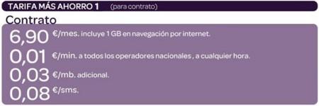 Carrefour móvil mejora su tarifa de pago por minuto: 1 cént/min y 1 GB por 6.9 euros