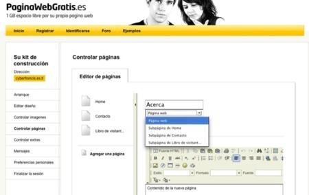 Paginawebgratis, otra opción para la creación de sitios web en minutos