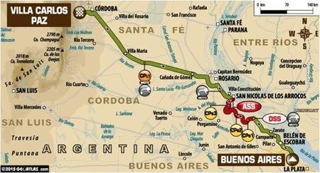 Recorrido Etapa1 Dakar2015