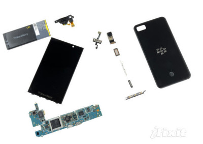 Los BlackBerry Z10, destripados
