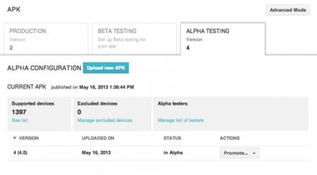 Los desarrolladores pueden subir versiones Beta y Alpha privadas de sus aplicaciones en Google Play
