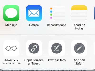 Cómo reorganizar y poner a tu gusto el menú para compartir contenido de iOS