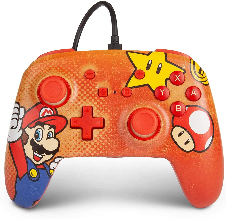 Control alámbrico para Nintendo Switch - Mario Vintage - Standard Edition