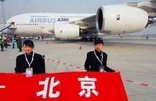El Airbus A380 en Pekín
