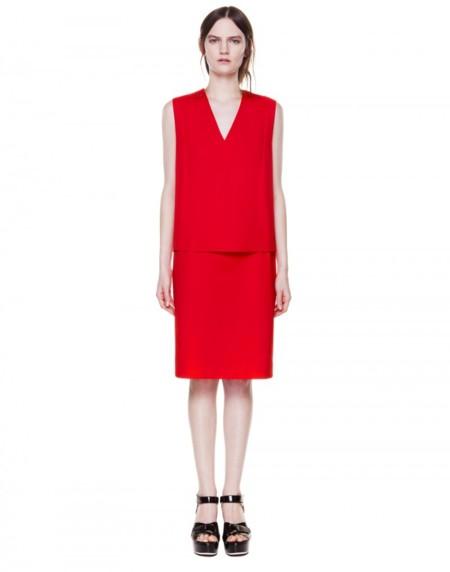 Vestido rojo doble capa