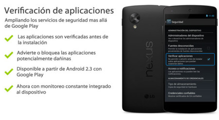 La verificación de aplicaciones de Android ya nos protege continuamente del malware