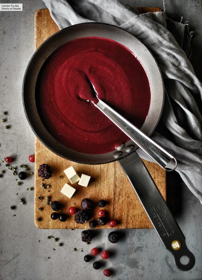 Salsa De Frutos Rojos Para Carne