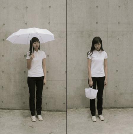 El paraguas-bolso