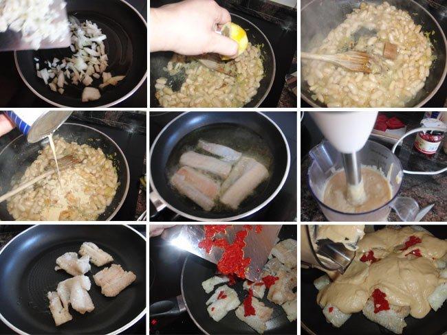 Abadejo con salsa de alubias