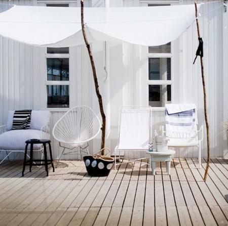 Cinco hermosas soluciones para proteger tu terraza del sol - Como cubrir una terraza ...