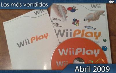 Los juegos más vendidos en España - Abril 2009