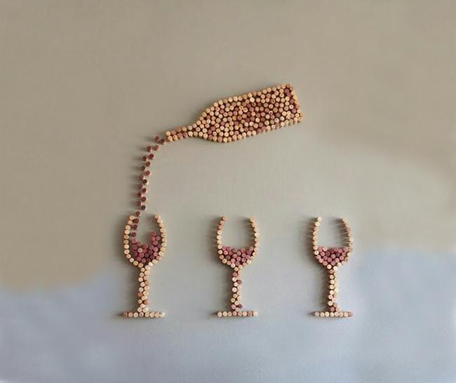 c mo usar corchos de botellas de vino para decorar paredes