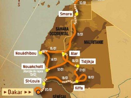Etapas en Mauritania Dakar 2008