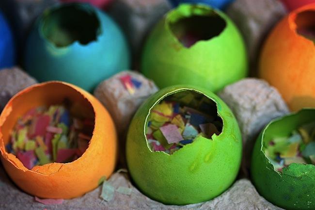 huevos de confeti fin de año