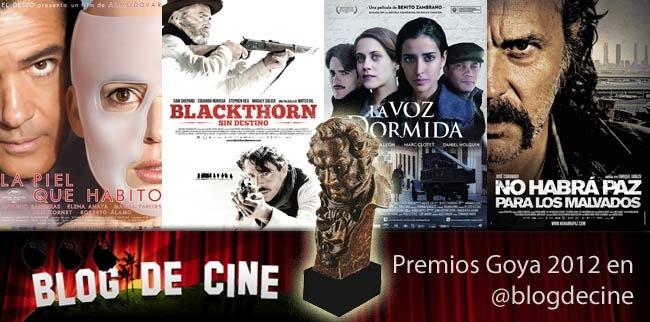 Premios Goya 2012 en Blogdecine