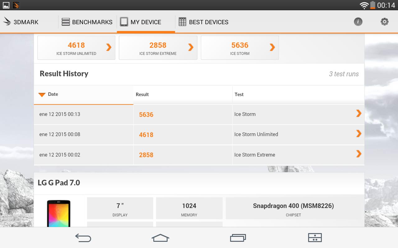 Foto de LG G Pad 7.0, benchmarks (16/18)