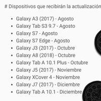 Samsung detalla cuándo actualizará a Oreo los Galaxy A3, J3, J5, J7, S7 y más: algunos se van a diciembre