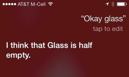 Siri empieza a bromear con Google Glass en sus respuestas