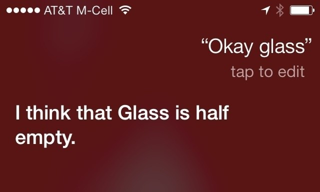 apple siri google glass ios 7