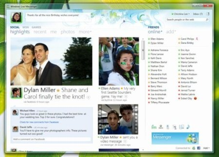Captura oficial del nuevo Messenger 2010