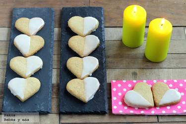 Galletas de corazón para hacer con niños