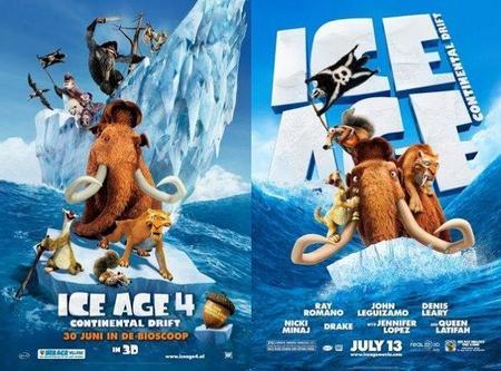 'Ice Age 4: La Formación de los Continentes', tráiler y carteles
